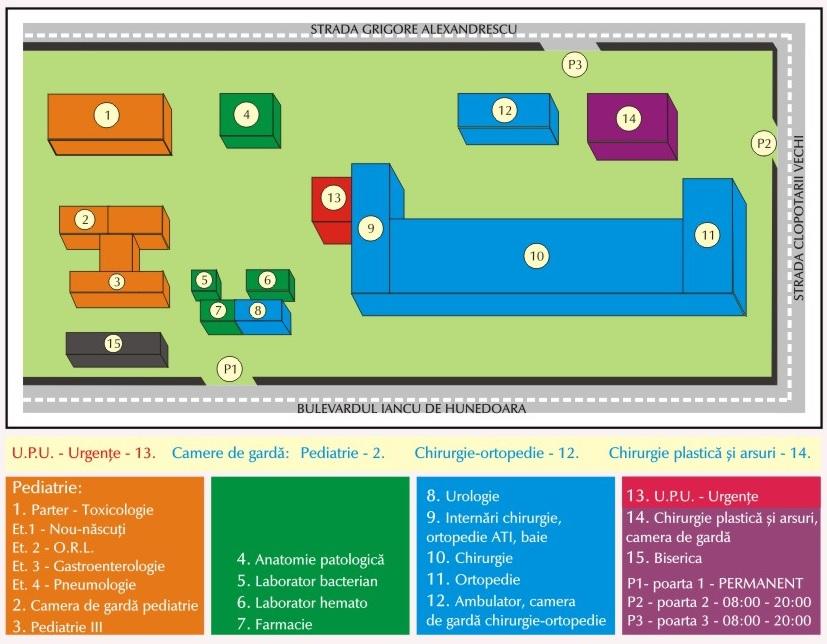 Harta Spital Interior